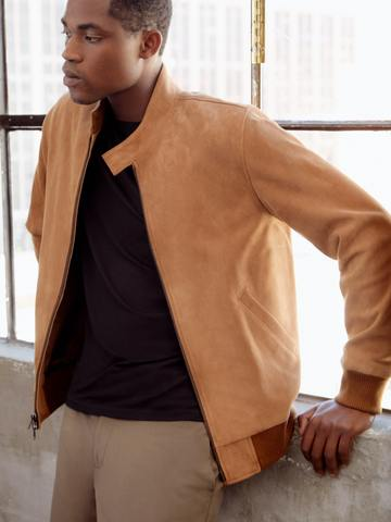 Brown Suede Leather Jacket - The Leather Craft