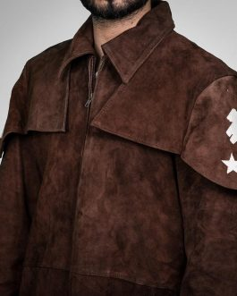 A7 – Suede Brown Leather Trench Coat