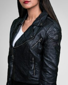 Classic Black Biker Leather Jacket